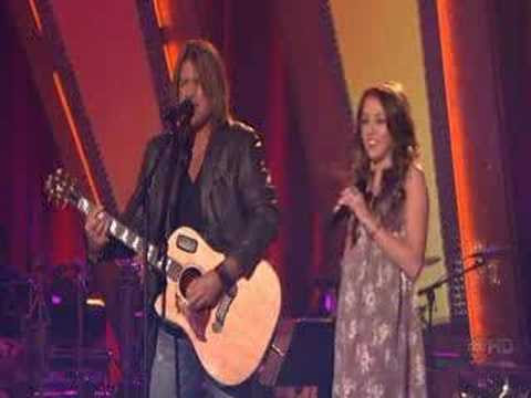 Miley and Billy Ray Cyrus singing on Dancing w/ the Stars