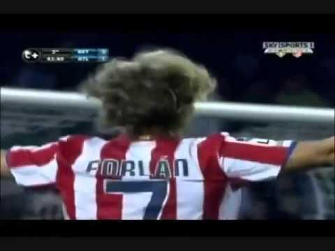 Mejores goles de Diego Forlán con el Atlético de Madrid