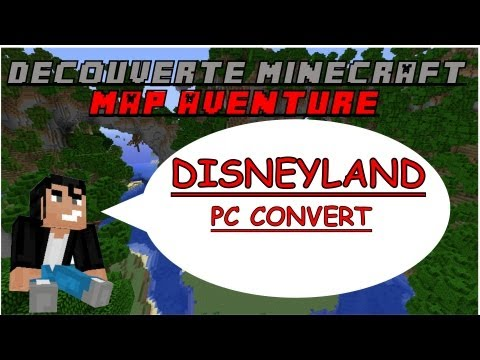 Découverte Minecraft - Map Aventure Disneyland (pc convert) - Xbox 360