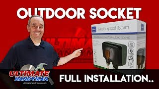 How to install an external electrical socket | install outside socket