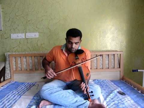 Kaadhal Rojave   Roja Janeman In Violin By Subramoni Rengarajan video