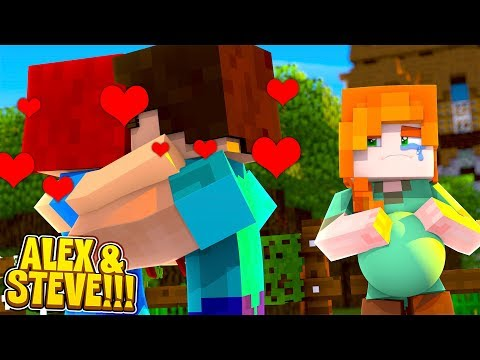 Minecraft STEVE IS CHEATING ON ALEX WITH HIS EX GIRLFRIEND!!! Life of Alex & Steve