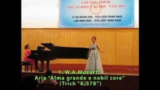 """Lâm Minh Ngọc   Tốt nghiệp Cao học Thanh nhạc 2017   Aria """"Alma grande e nobil core"""""""
