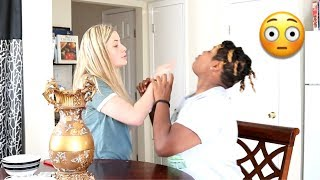 CALLING MY GIRLFRIEND ANOTHER NAME PRANK!! (SHE HIT ME)