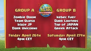 World Championship Group Draw - April Qualifier - Clash of Clans