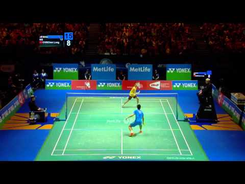 Badminton Highlights - Lee Chong Wei Vs Chen Long - All England 2014 Ms Finals video