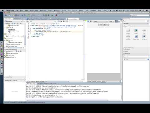Oracle Mobile Application Framework Demo - Part 1