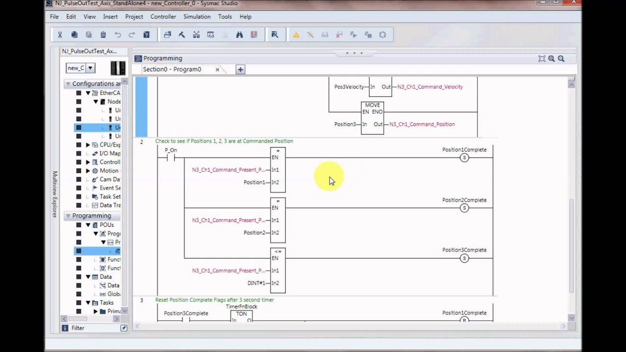 Omron Plc Wiring Diagram Auto Electrical Far West Cathodic Rectifier Nx I O Pulse Out Program Example W Servo Axis