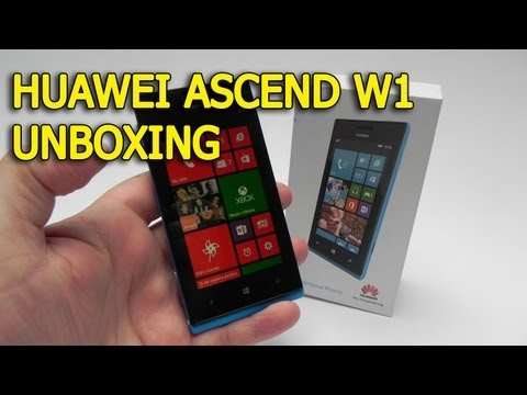 Huawei Ascend W1 Unboxing (Windows Phone 8) - GSMDome.com