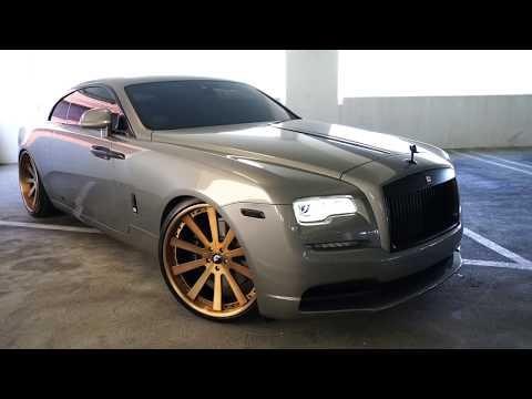 #RDBLA Rolls Royce GOLD, Crazy Color Changing Range Rover