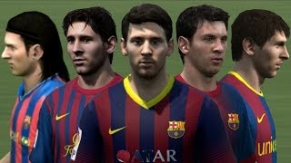 Messi from FIFA 06 to 14 Face Rotation and Stats | HD 1080p