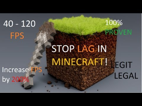 STOP LAG IN MINECRAFT. INCREASE FPS UP TO 200% (40-120 FPS) How to PC {Reduce} [Get rid] FIX
