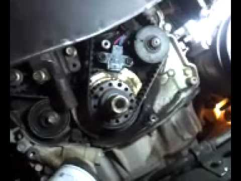 2004 Kia Optima 2.4 Timing marks crank reference inspection hole
