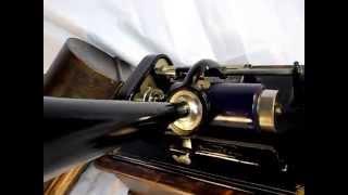 Thomas Edison's Electric Light Bulb Band Video - Edison Standard 2/4 Minute Cylinder Phonograph Demo