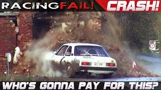 WHO'S GONNA PAY FOR THIS CRASH? Rally Cars vs Houses... | RACINGFAIL