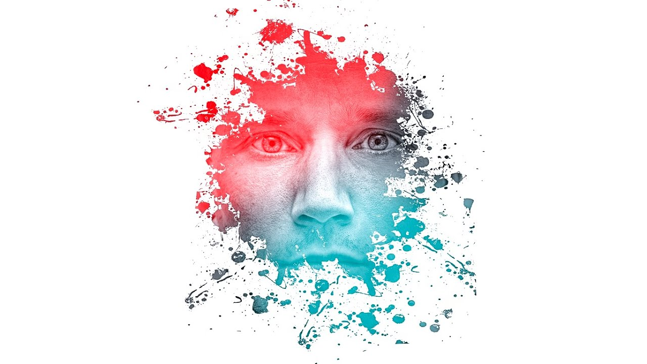 Color Splatter Photoshop Color Splatter Face Splash on