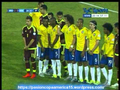 Brasil 2 Venezuela 1 (Relato Daniel Alonzo) Copa America 2015
