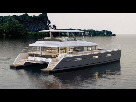 Lagoon 630 catamaran walkthrough at Cannes 2017