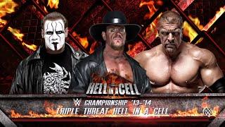 WWE 2K16- Undertaker vs Sting vs Triple H Hell In A Cell Match- WWE Champion 2015- WWE 2K16