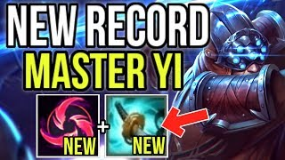 NEW KEYSTONE HAIL OF BLADES + ITEM STORMRAZOR ARE BROKEN! NEW WORLD RECORD YI - League of Legends