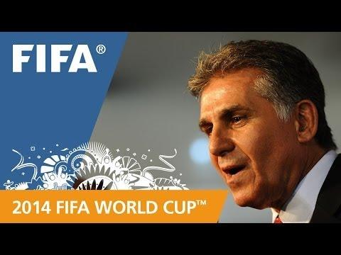 Iran's Carlos QUEIROZ Final Draw reaction (Portuguese)