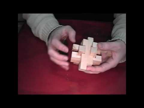 Three of Six wooden puzzle Brain Benders