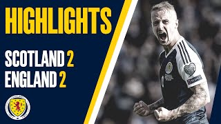 HIGHLIGHTS   Scotland 2-2 England