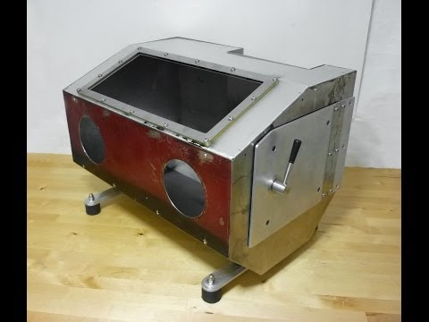Homemade sandblasting cabinet with integrated 2.5Lt pressure pot-part 3