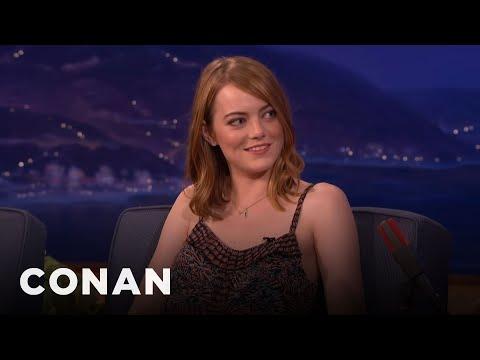 Emma Stone Explained Twitter To Woody Allen  - CONAN on TBS