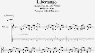 Tablatura Piazzolla Guitarra: Libertango Guitarra Solista...