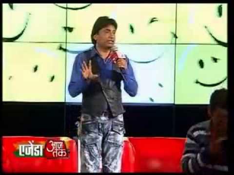 Raju Srivastava on Laloo Prasad Yadav in Agenda Aajtak