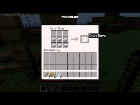 Minecraft How To Make A Glass Pane Fence Gate And Iron