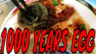 Eating The World's Oldest Egg - Century Egg or 1000 year egg (Pidan) In Taiwan