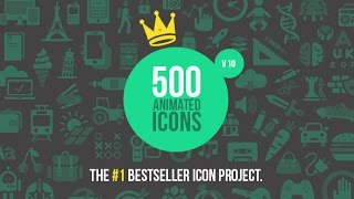500 Animated Icons - After Effects Template - Videohive