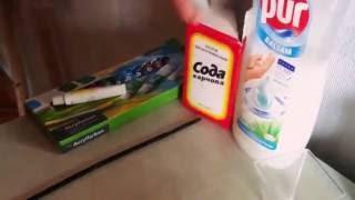 Делаем лизун из соды,пура и красителя...в домашних условиях!