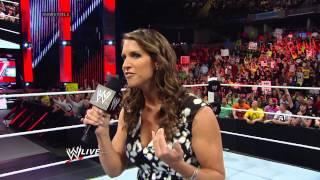 Stephanie McMahon makes an announcement regarding the fate of the WWE World Heavyweight Title: Raw,