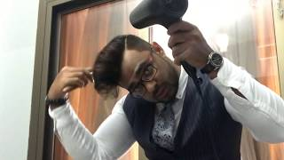 Daily go to hairstyle for men| easy and simple| Johnny bravo type