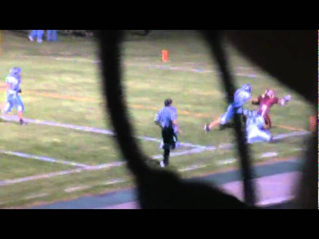 9-30-11 - It&#039;s a 41 yard TD pass from Mitch Tormohlen to Eric Garcia (Brush 21, Platte Valley 0)