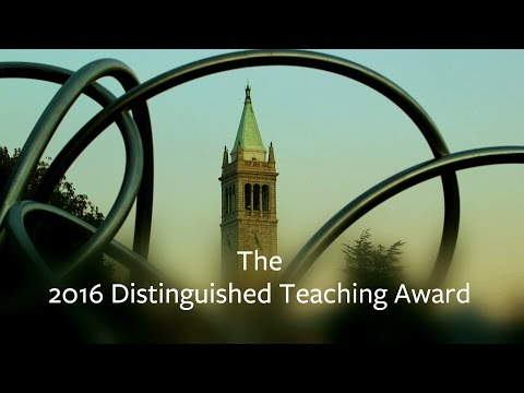 Berkeley's 2016 Distinguished Teaching Award Recipient Profiles