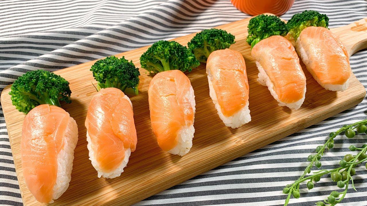 スモークサーモンのにんじんお寿司