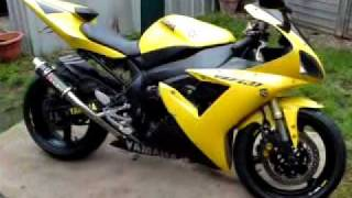my 2003 yellow r1 with race can