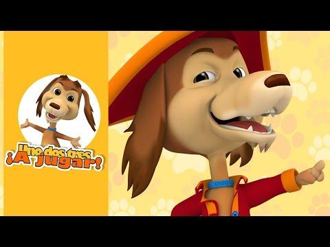 A buscar el tesoro con el perro Chocolo - ¡Uno dos tres a jugar!