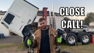 FOUND MAJOR ENGINE DAMAGE IN THE CABOVER DURING INFRAME....