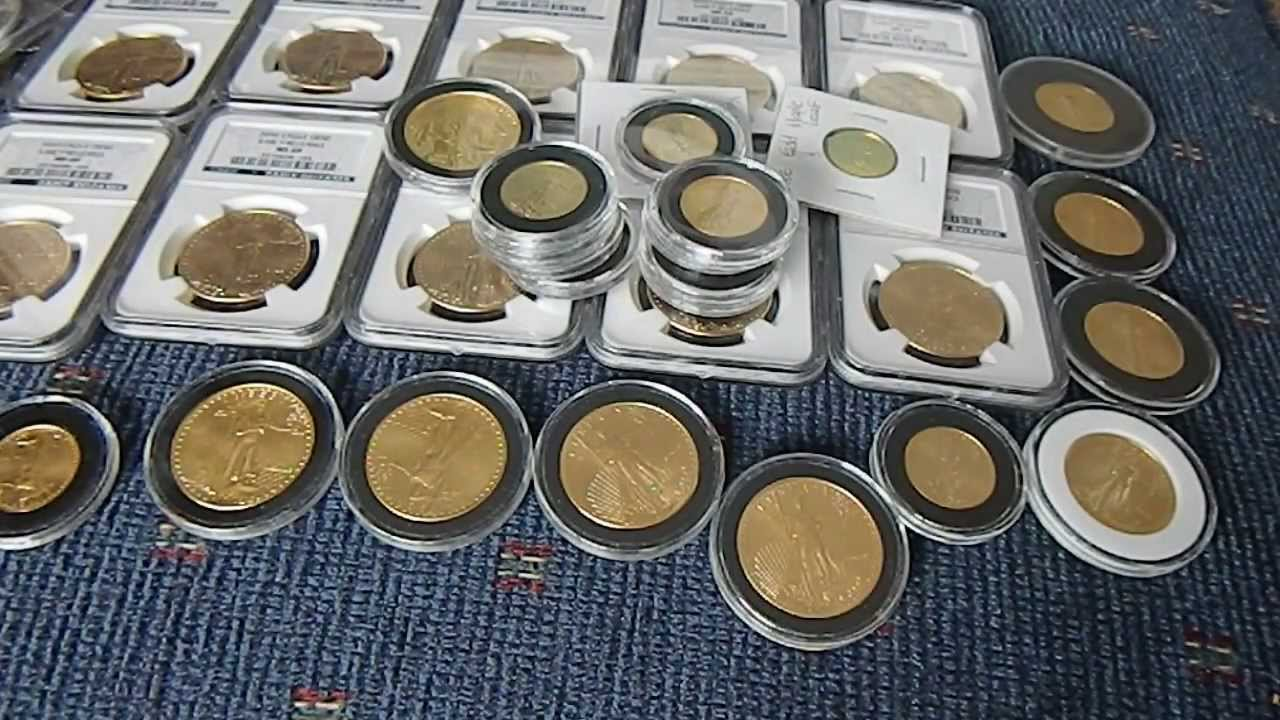 Gold Amp Silver Coins Stack Hoard Youtube