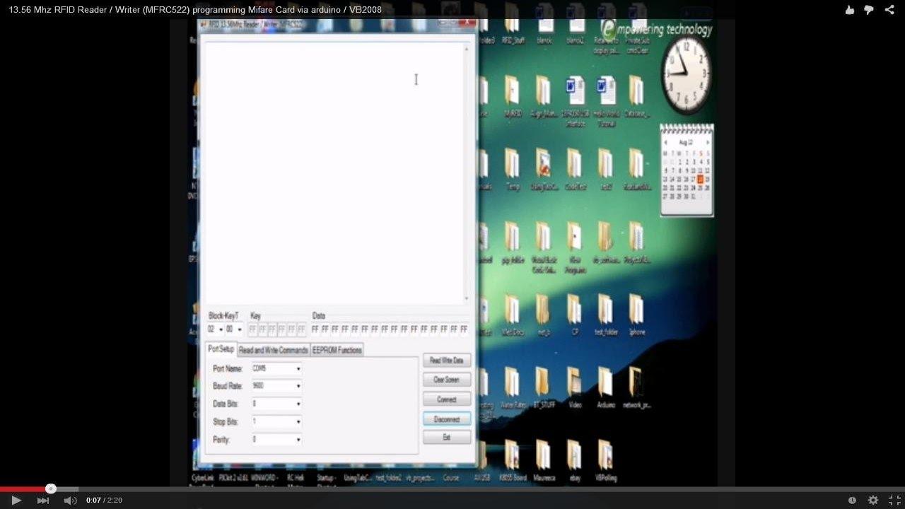 1356 Mhz RFID Reader / Writer MFRC522 programming