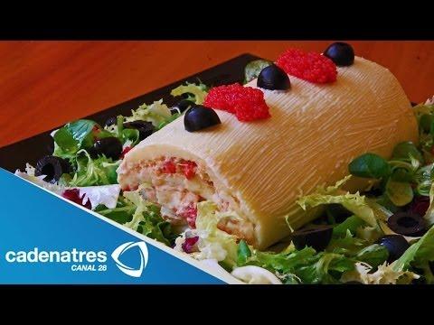 Receta para preparar rollo de atún con queso crema. Receta de rollo / Recetas fáciles y rápidas