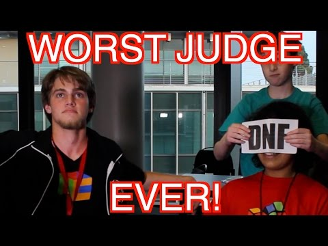 World's Worst Rubik's Cube Judge! EVER! Part IV | ColorfulPockets