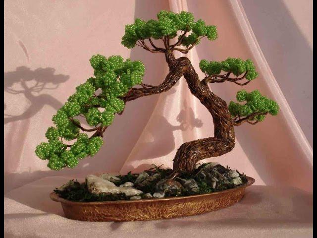 Деревья из бисера!!! Супер красиво!!! Поделки Подарки своими руками. Идеи рукоделия!