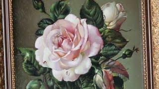 Розы. Рисуем поэтапно в технике живописи старых мастеров.