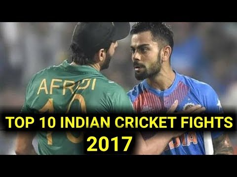 Indian cricket teams top ten fights